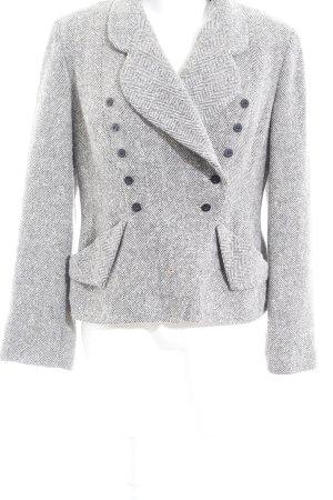 Cut Loose Blazer in maglia motivo a zig-zag stile classico