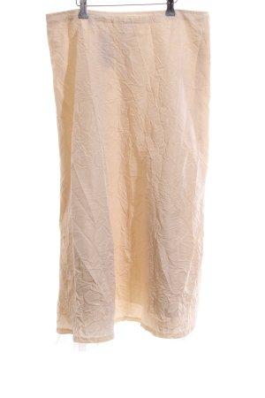 Cut Loose Falda de tafetán crema look casual