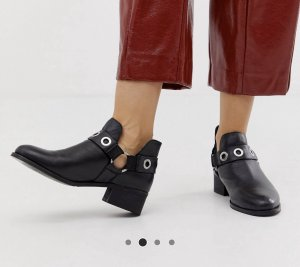 Park Lane Ankle Boots black-silver-colored