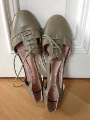 Cut out Ballerina mintgrün/greige Tanzschuh Style