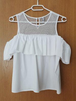 Amisu Off-The-Shoulder Top white