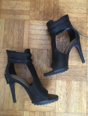 Cut Out Booties, High Heels mit hohem Schaft