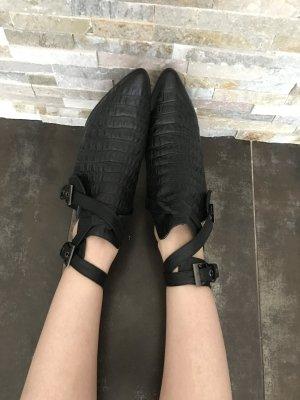 Cut-Out Boots im Krokoleder-Look in Gr. 36