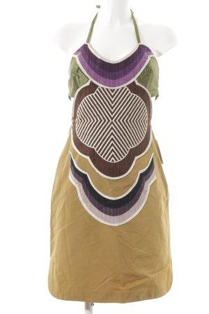 Cut-Out-Kleid Ethnomuster extravaganter Stil