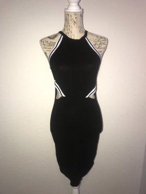Cut Out Kleid Gr.M Schwarz-Weiß