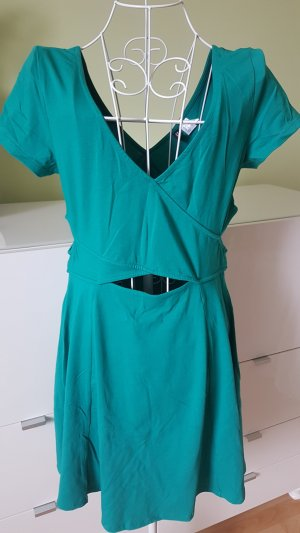 H&M Cut out jurk cadet blauw