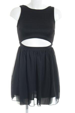 Cut-Out-Kleid schwarz Casual-Look