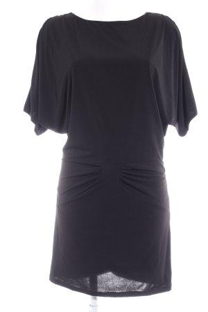 Cut-Out-Kleid schwarz-goldfarben Elegant