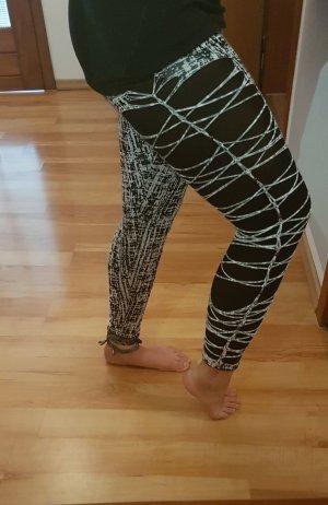 Leggings bianco-nero