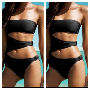 Cut Out Monokini Schwarz