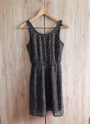 Cut out Muster Kleid schwarz weiß Gr. 36