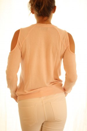 Abercrombie & Fitch Crewneck Sweater pink viscose