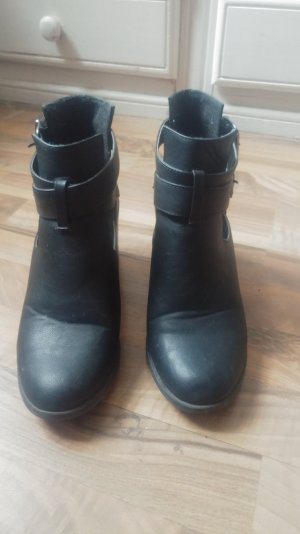 Cut Out Schuhe, Boots, Booties, Blogger, Stiefeletten Gr. 40/41
