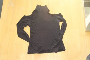 Cut Out Top black synthetic