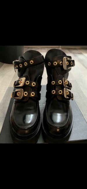 Onygo Cut Out Booties black leather