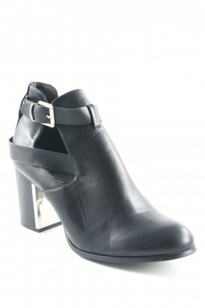 Stivaletto cut out nero stile da moda di strada