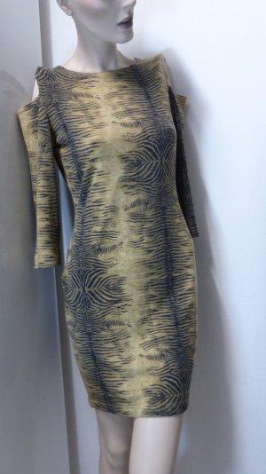 Robe fourreau multicolore tissu mixte