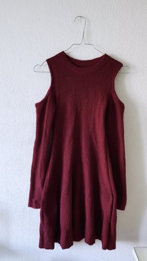 Hollister Abito cut out bordeaux-carminio Viscosa
