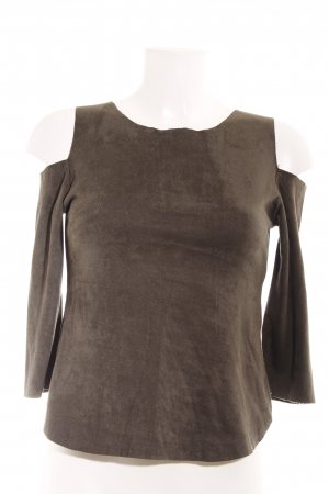 Top cut out gris verdoso look casual