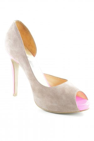 Cute Couture High Heels beige-neonpink Elegant