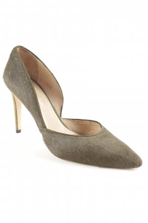 Cute Couture Pointed Toe Pumps olive green '80s style