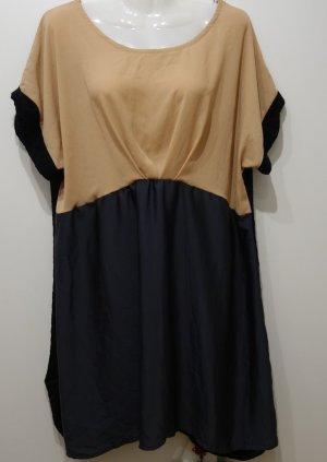 Cutie Blonde Japan Longshirt Tunika Kleid Gr. L (42) Colour Blocking Lagenlook