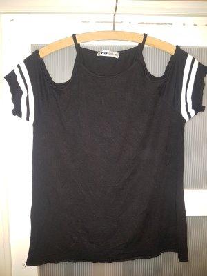 Amisu Camisa de un solo hombro negro Algodón