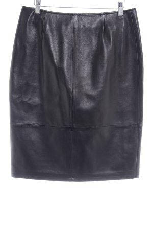 Cygielman Leren rok zwart bruin zakelijke stijl