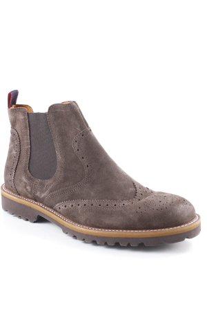 Cypres Chelsea laarzen donkerbruin-zandig bruin casual uitstraling