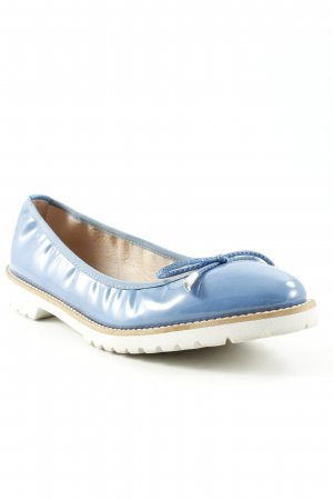 Cypres Patent Leather Ballerinas cornflower blue street-fashion look