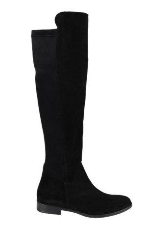 Cypres Botas sobre la rodilla negro Gamuza