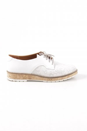 Cypres Oxfords white flower pattern casual look