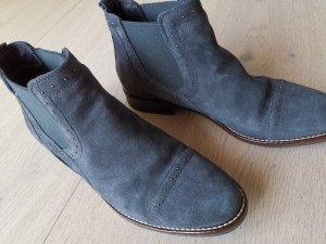 Cypres Chelsea Boot gris foncé-bleu foncé daim