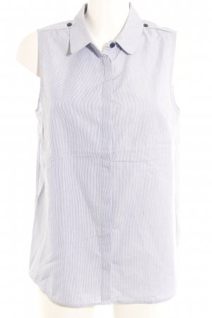 Cyrillus Sleeveless Blouse dark blue-white striped pattern business style
