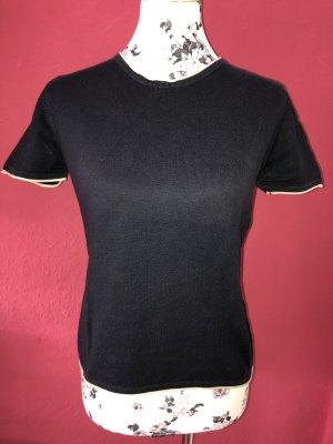 Cyrillus Short Sleeve Sweater blue-dark blue