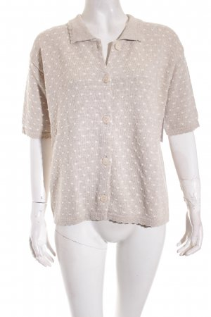Cyrillus Short Sleeve Knitted Jacket cream spot pattern casual look