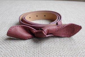 CYRILLUS Ledergürtel mit Knoten rosé, nie getragen