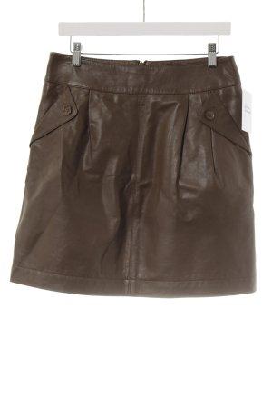 Cyrillus Leather Skirt brown street-fashion look