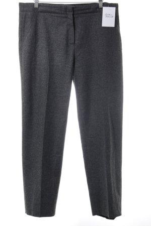 Cyrillus Wollen broek antraciet gestippeld zakelijke stijl