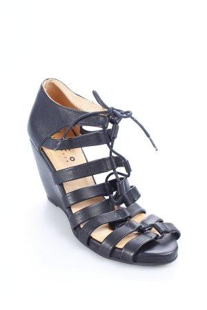 d. Co Copenhagen Wedges Sandaletten schwarz Eleganz-Look gebraucht kaufen  Wird an jeden Ort in Deutschland
