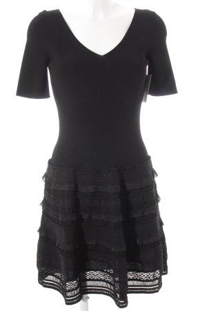 D. Exterior A-Linien Kleid schwarz Business-Look