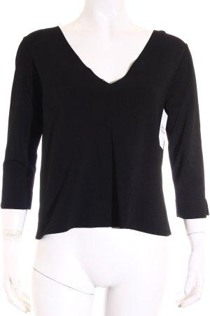 D. Exterior Shirt schwarz schlichter Stil