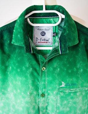 D-Extra, Casual - Hemdbluse, Ombré -Look, grün - Cremé, Grösse S/M