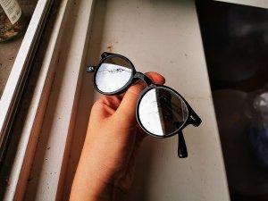Round Sunglasses black-silver-colored
