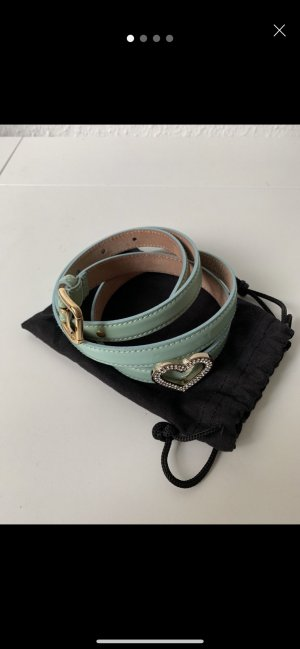 Dolce & Gabbana Ceinture en cuir turquoise