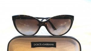 Dolce & Gabbana Butterfly Glasses brown-dark brown synthetic material