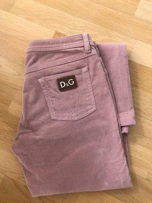 Dolce & Gabbana Pantalone di velluto a coste rosa