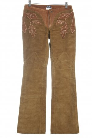 D&G Corduroy Trousers brown-cognac-coloured country style