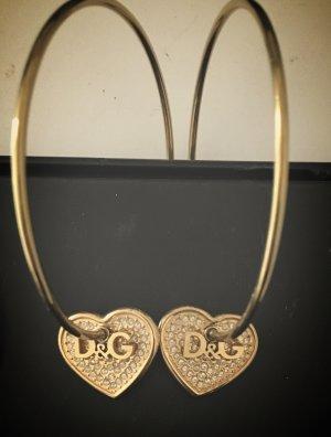 D&G Creolen Groß Gold