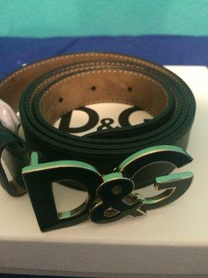 D&G Damengürtel schwarz mit Gold
